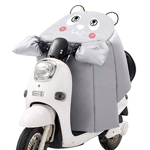 WOLJW Elektro-Scooter Windschutzscheibe Velvet Thick wasserdicht Winddicht Motorrad Abdeckung Warm Knieschützer Leg Cover Universal für Scooter,B