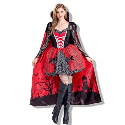 Dreamgirls Kostüm Größentabelle - YHNUJMIK Halloween Rollenspiele Rotkäppchen Kostüm Vampir Königin Kostüm Partykostüme sammeln Teufelsanzug Dreamgirl Frauen,M
