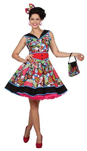 0er Jahre Damen-Kostüm Pop Art Kostüm Damen Größe 44 ()