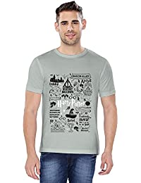 The Souled Store HARRY POTTER: Doodle Movie Graphic Printed Cotton T-shirt for Men Women and Girls
