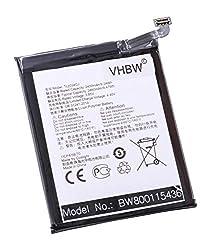 vhbw Li-Polymer Akku 2400mAh (3.85V) für Handy Smartphone Telefon Alcatel One Touch OT-5080, OT-5080x, Shine Lite