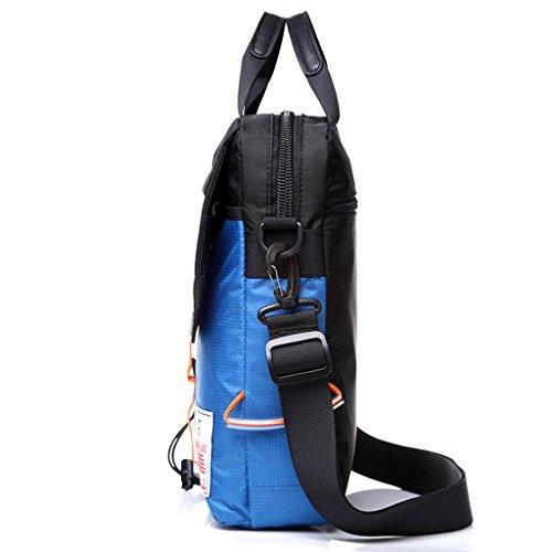 Supa Moden Men nylon borsa messenger a tracolla organizzatore cartella da escursionismo confezione multi-pocket Sling borsa a tracolla, Uomo, Green Grey