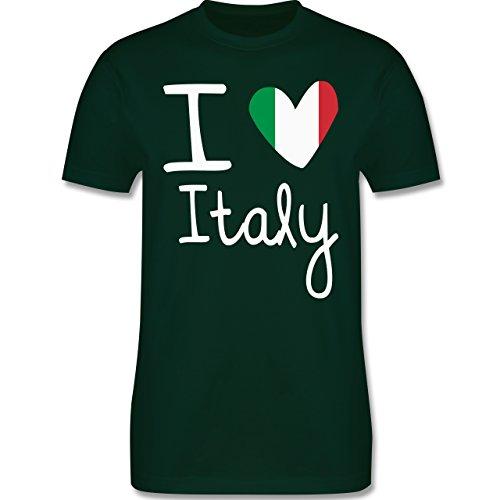 EM 2016 - Frankreich - I love Italy - Herren Premium T-Shirt Dunkelgrün