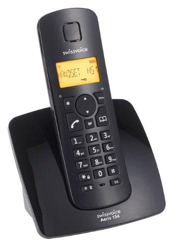 Swissvoice-Aeris-134-Schnurloses-Analog-Telefon-DECT-mit-beleuchtetem-Display-inkl-ECO-Mode
