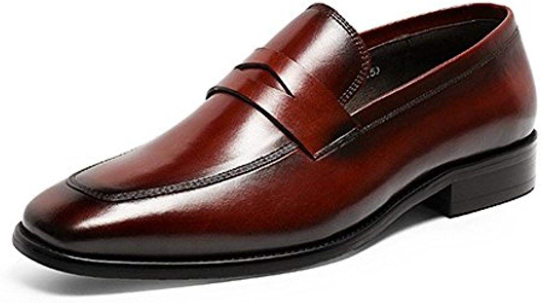 Scarpe Stringate da Uomo Scarpe di Cuoio Cuoio Cuoio Affari Classico Scarpe Pigre Comodo Traspirante   Cliente Al Primo  f89fe7