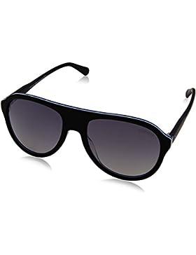 Tommy Hilfiger Unisex-Erwachsene Sonnenbrille TH 1316/S IC, Schwarz (Bkwhtblcrybk), 55