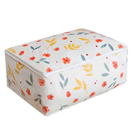 mailfoulen PEVA Blume Geometrische Printed Quilt Aufbewahrungstasche Staubdichtes Moistureproof Garderobe Kleidung Decke Organisieren Fall