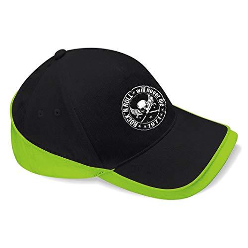 Skull Biker Rockabilly Hotrod Rock n Roll Ramones Baseball Cap Mütze -c159...