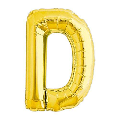 Globo gigante de helio con adhesivos letra D