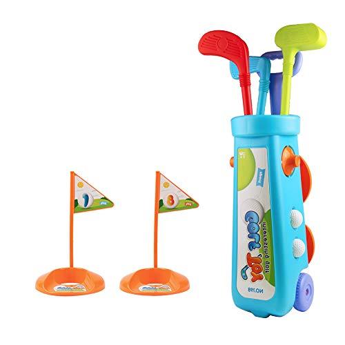 Nuheby Mini Golf Jouet Kit de Golf Jeux Exterieur Jeux Plein Air Enfant Plastique Jouet Garcon Fille...