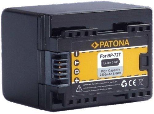"""Bundlestar Qualitätsakku für Canon BP-727 (echte 2400mAh) mit Infochip - Intelligentes Akkusystem - 100{3aed34df1dd245a9fe9cd36fb4062aba437d6f2cc9e072c9541d8e82f988600e} kompatibel \""""neueste Generation\"""" für -- Canon LEGRIA HF M52 M56 -- M506 -- R36 R37 R38 R46 R48 R66 R68 R76 R78 R86 R88 -- R306 R406 R506 R606 R706 R806 -- NEUHEIT - Kann mit original Ladegerät geladen werden !"""