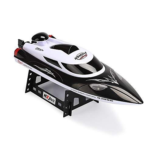 QTRT Hochgeschwindigkeitsfähre Schnellboot Fernbedienung Boot 2.4G Wassermodell Flugzeug Spielzeug Wasserzyklus Schiff über Reset Kind Erwachsene LED Lichter Schiffe Lade 35KM / h Wettbewerb U-Boote