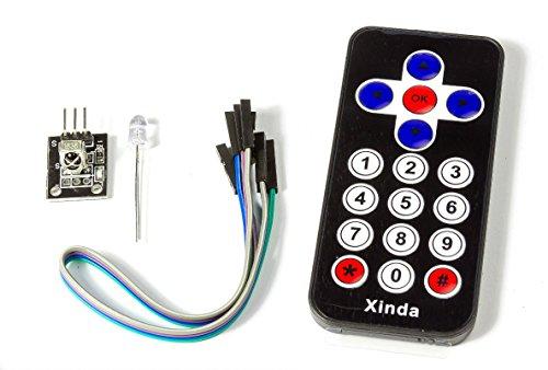 IR-Sensor Empfänger Modul Board mit Fernbedienung Black f. Arduino Raspberry Pi Ir-pc-board