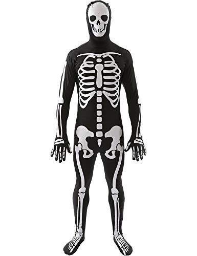 Männlich Dämon Kostüm - Simmia Halloween Kostüm,Familie Eltern-Kind-Schwarz-Weiß-Truss Kostüm Bühnenshow Dämon, Männer, M