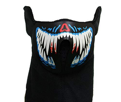 Schneemobil Kostüm - ForBestWish Party Maske mit Musik, LED, für Tanz, Reiten, Skaten, Halloween, leuchtende Party-Maske