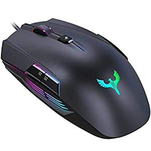 Gaming Maus, BLADE HAWKS Gaming Mäuse Gamer Maus LED RGB mit 4000 DPI, 8 Programmierbare Tasten für PC Pro Spieler, Windows XP/Visa/7/8/10