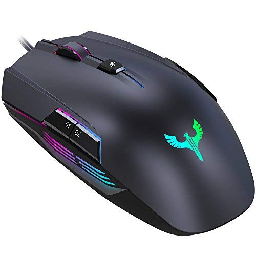 Gaming Mouse, BLADE HAWKS Mouse da Gioco Regolazione RGB con 8 Pulsanti Programmabili, 4000 DPI Switch per Windows 10/8/7/XP, PC Laptop Computer Notebook