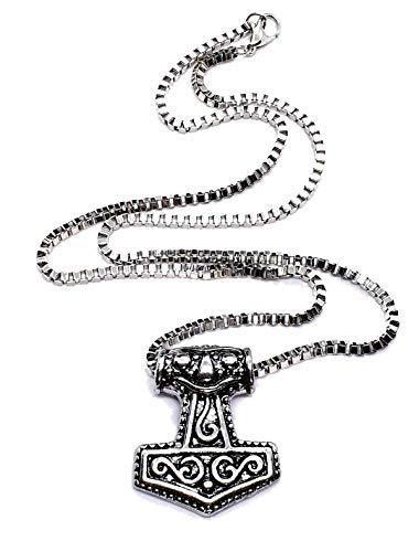 Eclectic Shop Uk Mjolnir Thors Hammer God Biest Zoomorpher Asgard Midgard Heiden Anhänger Verpackt Halskette Nordisch Asgard Midgard