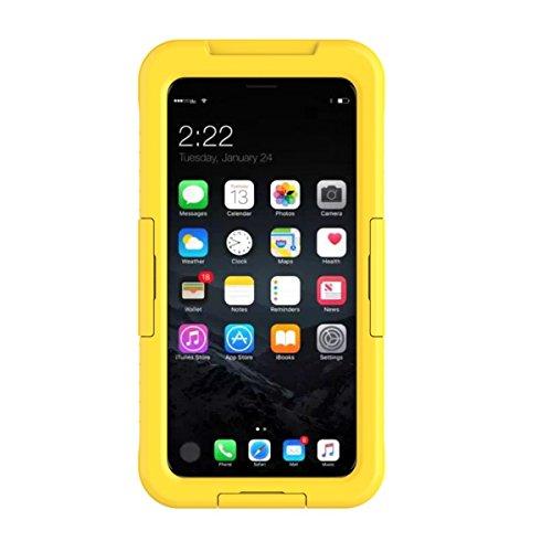 iPhone X iPhone Xs Wasserdicht Hülle Casefirst Rugged Schale Case IP68 Certified TPU + PC Hülle Extreme Durable 360 °Staubdicht Wasserdicht Stoßfest mit eingebautem Displayschutzfolie Schutzhülle Ganzkörper Schutzhülle - iPhone X iPhone Xs (Yellow)