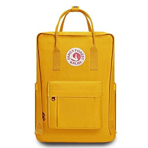 KALIDI Rucksack/Daypack Rucksack Mädchen Jungen & Kinder Damen Herren Schulrucksack mit laptopfach für 15 Zoll Notebook (Gelb)