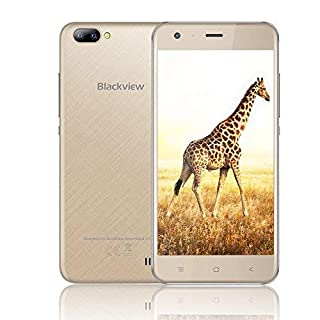 Mobile Phones Unlocked, Blackview A7 3G Dual SIM Free Smartphones with 5.0 Inch HD IPS Display - Android 7.0 Smartphone - Rear Dual Camera 5.0MP - 2800mAh Large Capacity - 8GB ROM - Gold