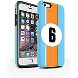 Coque Matte Robuste Antichoc de STUFF4 / Coque pour Apple iPhone 6S / Gulf/Bleu Design / Rayures Voiture Course Collection