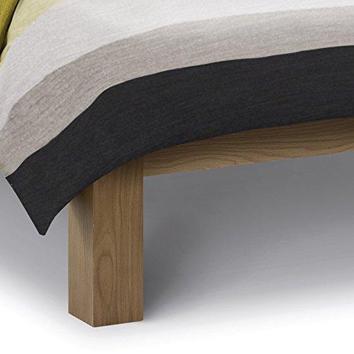 Happy Beds Amsterdam Oak Bed Wood Low Foot End Antique Frame Bedroom Comfort 6' Super King Size 180 x 200 cm