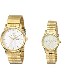 Titan Bandhan Analog Champagne Dial Couple's Watch -NK15802490YM04