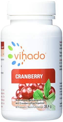 Vihado Cranberry Kapseln hochdosiert aus Cranberry-Saft Fruchtpulver, 60 Kapseln