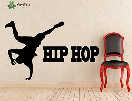 jiuyaomai Wandtattoo Hip Hop Zitate Rap Musik Vinyl Wandaufkleber Jungen Schlafzimmer Abnehmbare Cool Art Decor Design Innenwandbild 120x75cm
