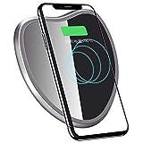 WBGSNHHH Original Qi Wireless Ladegerät Für iPhone X XS Max Schlank Schnell 10 Watt USB Wireless Charging Für Samsung S8 S7,Black(b)