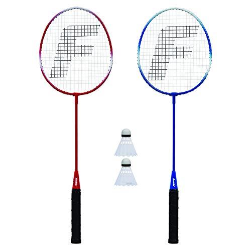 Franklin Badminton-Set - Federballset für 2 Personen mit Badmintonschlägern & Federbällen I Outdoor-Spiel für Kinder & Erwachsene I Spiel für den Urlaub I inkl. 2 Schläger & 2 Federbälle I Rot/Blau- One Size