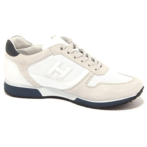 3896Q sneaker uomo HOGAN SLASH PUNZONATA grigio/bianco grey/white shoe men Grigio/Bianco/Blu