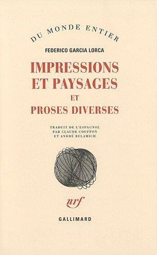 Impressions et paysages - Proses diverses
