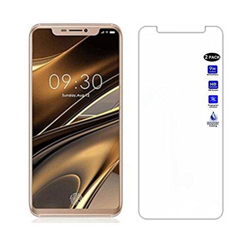 XMTN Doogee V Bildschirmschutzfolie,0.3mm Dünn,9H Härtegrad,Ultra-klar Glasfolie Bildschirm Schutz Folie für Doogee V Smartphone (2 Pack)