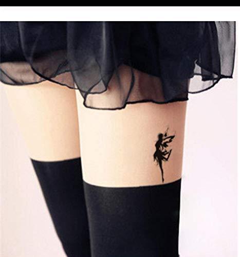 Lfvguiop impermeabile tatuaggio falso donne gamba petto sexy temporanea adesivo svolazzante angelo fata ragazza design scar copertura tatuaggio veloce pcs 4