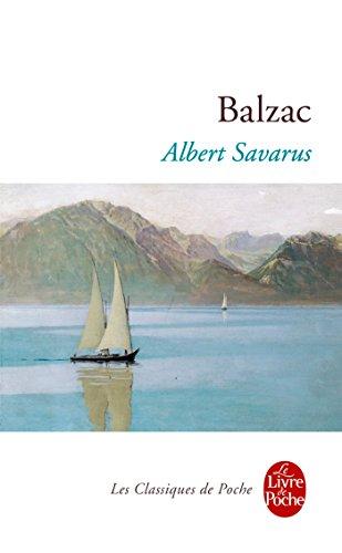 Albert Savarus par Honoré de Balzac