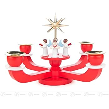 rot für Kerzen d=20mm BxHxT 19,5 cmx17 cmx19,5 cm NEU Adventsleuchter mit Stern