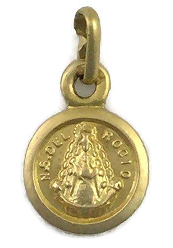 Medalla Escapulario de Oro de 18 Klts de Bebé J. Luis J.L-MED-012 (Virgen del Rocío y Virgen de la Cinta)