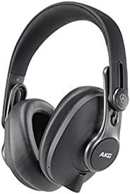 AKG K371BT Over Ear Foldable Studio Headphones With 40 Hour Battery Life, Bluetooth 5.0 and HD Microphones for