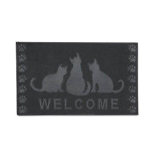 Felpudos Gatos rectangular WELCOME decorativo para la entrada del hoga