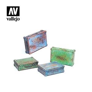 Vallejo SC226 1/35 - Maletín de Metal (4 Unidades, Diferentes Modelos)