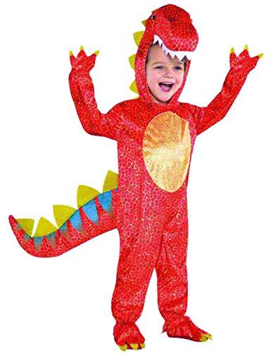 Kostüm 3 Dinosaurier - Amscan International Dinomite-Dinosaurier-Kostüm, Jungen 3 - 4Jahre