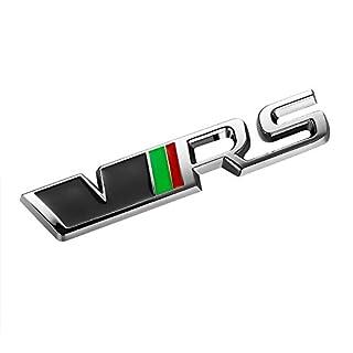 Vvciic 3D Metal VRS RS Rear Grill Emblem Sticker Auto Badge Skoda Fabia Octavia MK2 Rapid Spaceback Superb Yeti Roomster