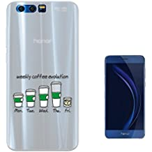 c01458 - Weekly Coffee Evolution Addict Design Huawei Honor 9 Fashion Trend Silikon Hülle Schutzhülle Schutzcase Gel Silicone Hülle