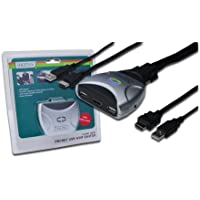 DIGITUS MINI USB-KVM Switch mit HDMI, 1 User - 2 PCS, mit Audiountersstützung, fixierter Kabelsatz, 1,2m