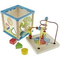 Baby Steckspiel Motorik Würfel Holzspielzeug Kinder Spielzeug Steckspielzeug Holz