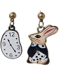 d5d2eb91d65d Xuniu Pendientes de Icono de Dibujos Animados Poker Party Pendientes de  botón de Alice in Wonderland