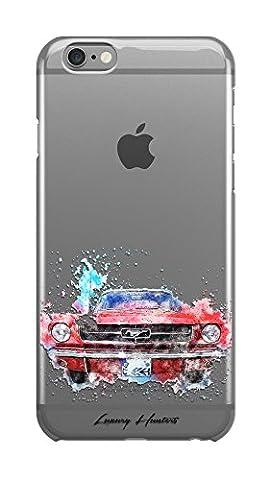 Luxus Cars/Sports Cars Zeichnung Malerei Splash Effect transparent Hard Plastic Case Cover Shell für Apple iPhone Design von luxuryhunters®