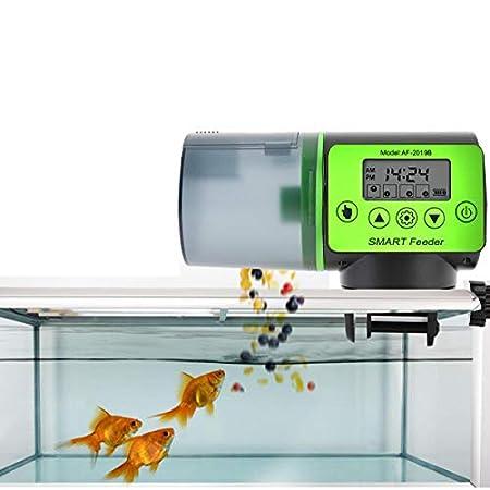Futterautomat für Fische Aquarium mit digitaler Timer Fischfutterspender Fütterung Zeit Einstellung für Fisch Tank und…